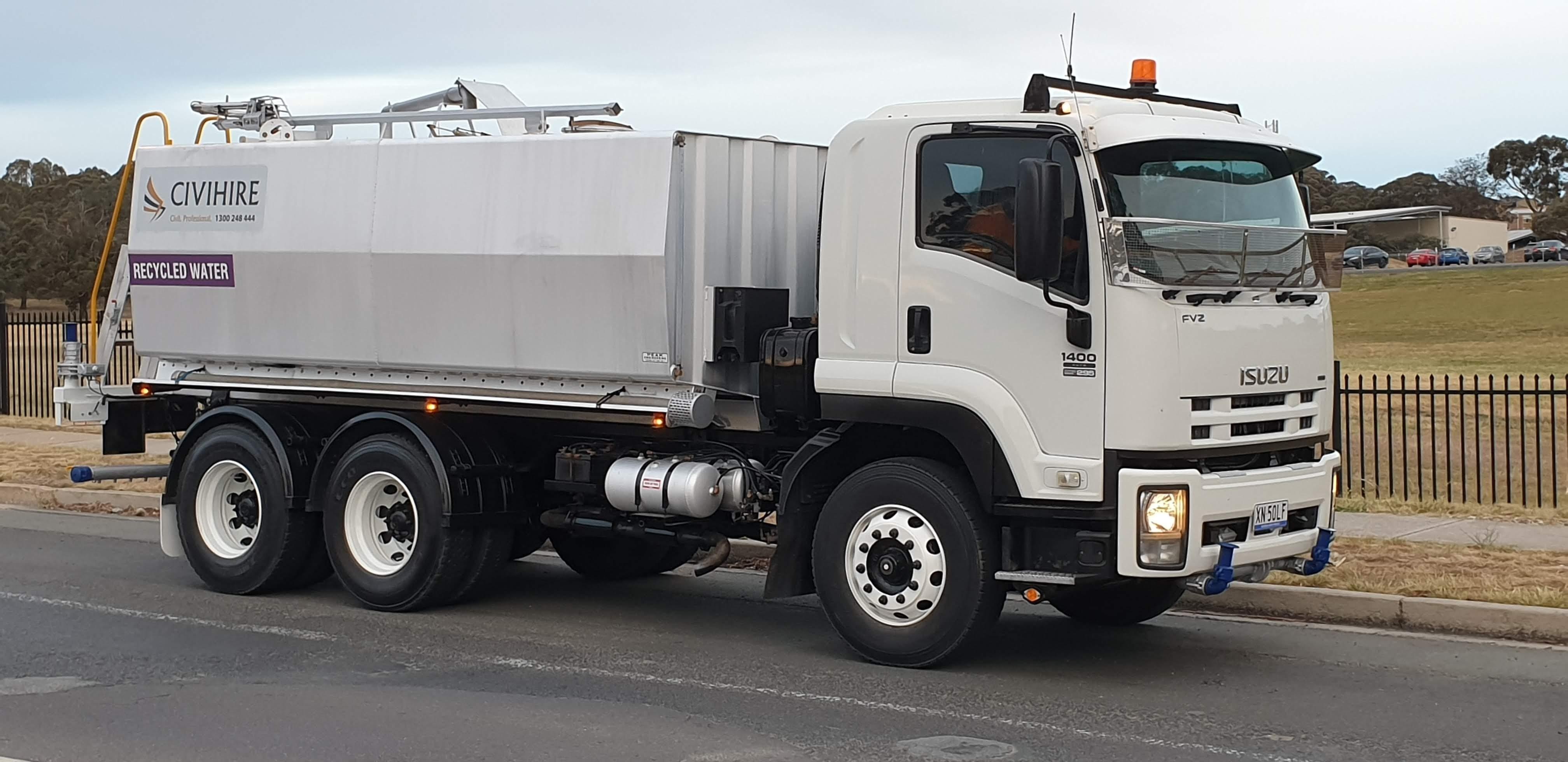 15000L Water Truck- Tandem Axle