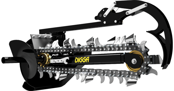 Digga Chain Trencher - Suits Mini Skidsteer