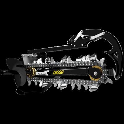Digga Chain Trencher - Suits Mini Skidsteer